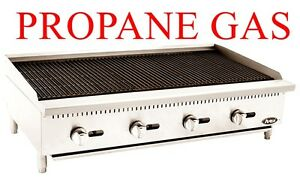 Brand New 4 Foot Wide 48 Inch Counter Top Propane Gas Lp Char Rock Broiler Grill