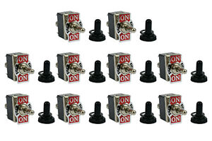 10 Pc Temco 20a 125v on off on Dpdt 6 Terminal Toggle Switch Momentary boot