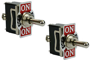 2 Pc 20a 125v Toggle Switch On off on Spdt 3 Terminal Switch Momentary 1 Side