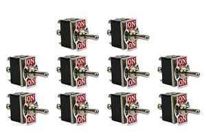 10 Pc Temco 20a 125v On off on Dpdt 6 Terminal Toggle Switch Momentary