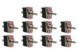 10 Pc 20a 125v Toggle Switch On off on Dpdt 6 Terminal Momentary 1 Side