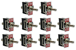10 Pc Temco 20a 125v On off on Spdt 3 Terminal Toggle Switch Momentary