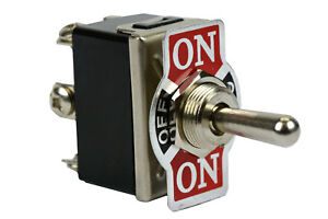 Heavy Duty Toggle Switch 20a 125v On off on Dpdt 6 Terminal Momentary 1 Side