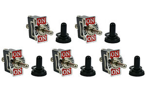 5 Pc Temco 20a 125v on off on Spdt 3 Terminal Toggle Switch Momentary Boot