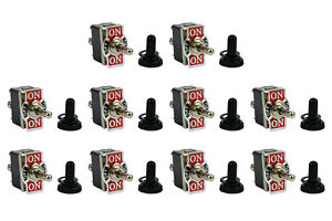 10 Pc Temco 20a 125v On off on Dpdt 6 Terminal Toggle Switch Momentary W Boot