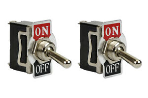 2 Pc Temco Heavy Duty 20a 125v On off Spst 2 Terminal Toggle Switch