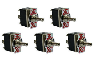 5 Pc Temco 20a 125v on off on Dpdt 6 Terminal Toggle Switch Momentary