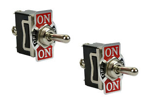 2 Pc Temco Heavy Duty 20a 125v On off on Spdt 3 Terminal Toggle Switch