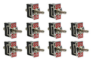 10 Pc Temco Heavy Duty 20a 125v On off on Spdt 3 Terminal Toggle Switch