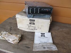 Nos Mopar Am Push Button Radio 1969 Plymouth Fury C Body Nice