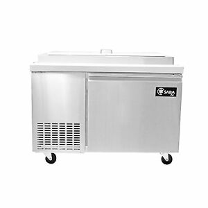 Saba Air Spp 49 6 Commercial Refrigerated Pizza Prep Table With Pans Stainless