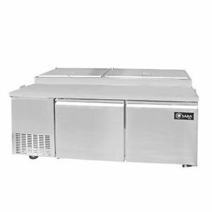 Saba Air Spp 70 9 Commercial Refrigerated Pizza Prep Table With Pans Stainless