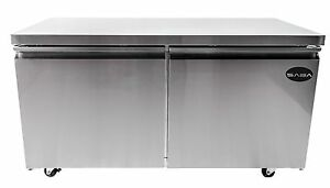 Saba Suc 48f Heavy Duty Commercial Two Door Under counter Freezer Stainless