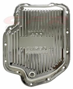 Chrome Steel Deep Sump Transmission Pan For Chevy Gm Turbo Th 400 Transmissions