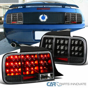 05 09 Ford Mustang Led Sequential Turn Signal Black Tail Lights Rear Brake Lamps