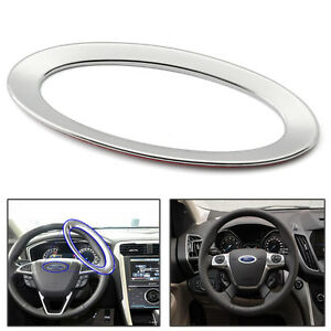 Steering Wheel Decor Cover Ring Trim For Ford Focus 2 3 Fiesta Mondeo Kuga Abs