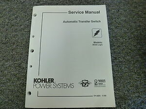 Kohler Model M340 Logic Automatic Transfer Switch Shop Service Repair Manual