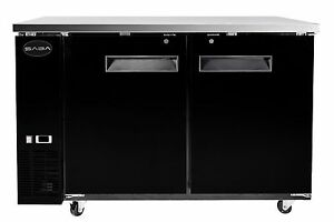 Saba Air Stbb 24 48b 2 Black Door Bar Back Refrigerator