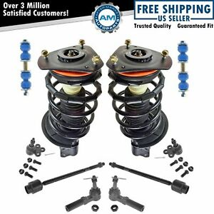 10 Piece Steering Suspension Kit Complete Struts Ball Joints Tie Rod Ends New