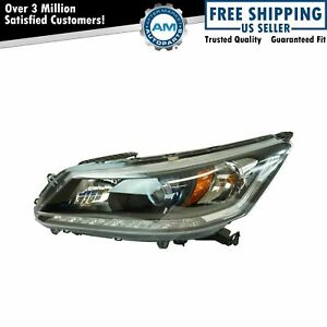 Halogen Headlight Lamp Assembly Lh Driver Side For Honda Accord Sedan New
