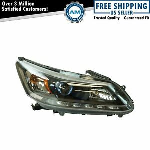 Halogen Headlight Lamp Assembly Rh Passenger Side For Honda Accord Sedan New
