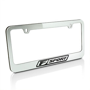 Lexus F Sport Chrome Brass License Plate Frame Official Licensed