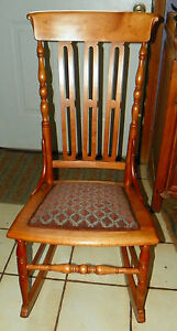 Cherry Sewing Rocker Rocking Chair R237