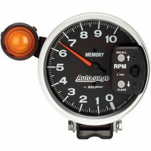 Auto Gage Monster Memory Tachometer 0 10 000 5 Dia Black Face 233906