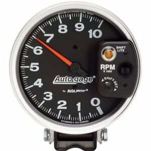 Auto Gage Monster Shift Lite Tachometer 0 10 000 5 Dia Black Face 233903