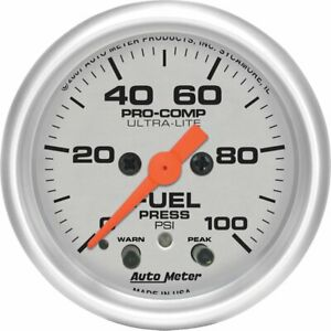 Autometer Fuel Pressure Gauge Gas New 4371