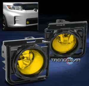 2011 2015 Scion Xb Front Bumper Yellow Fog Light Lamp Kit W Cover Wiring Harness
