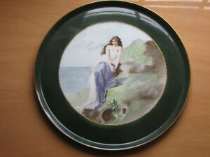 Antique Limoges D C Hand Painted Plate Charger Beautiful Women