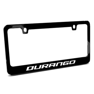 Dodge Durango Black Metal License Plate Frame Made In Usa