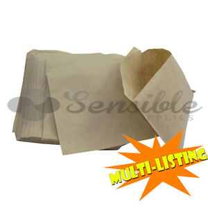 Brown Kraft Paper Grocery Fruit Veg Stall Take Away Strung Bags All Sizes qty s