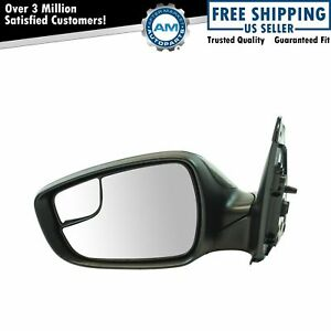 Exterior Power Mirror Heated Black Smooth Lh Driver Side For Hyundai Accent