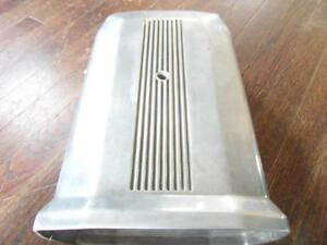 Vintage B m 2 Piece Aluminum Finned Street Scoop Single 4 Bbl Carb Street Rod