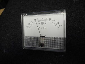 Weston 1936t Null Gauge 5 Mic div At Null Es 60ua 199213