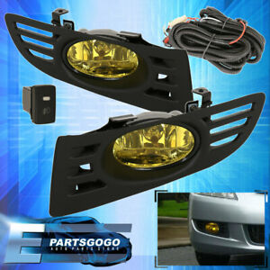 For 2003 2005 Honda Accord Coupe 2 Door Jdm Fog Light Yellow Lamp Assembly Kit