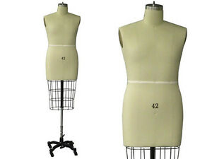Professional Pro Working Dress Form Mannequin Male Half Size 42 W hip