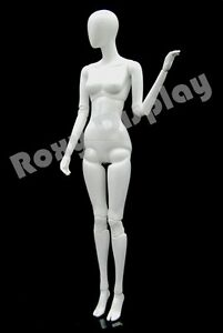 Fiberglass White Abstract Egg Head Mannequin Display Dress Form mz abegw3