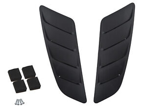 2015 2017 Ford Mustang Gt 5 0 Roush Hood Vent Heat Extractors Black Pair 421869