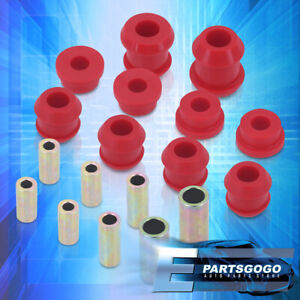 For 92 95 Civic 94 01 Integra Jdm Red Front Upper Lower Control Arm Bushings