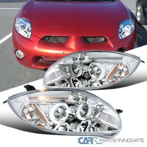 For 06 11 Mitsubishi Eclipse Clear Halo Projector Headlights Head Lights Lamps