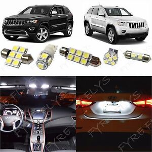 17 White Led Interior Lights Package Kit 2011 2019 Jeep Grand Cherokee Tool Jg1w