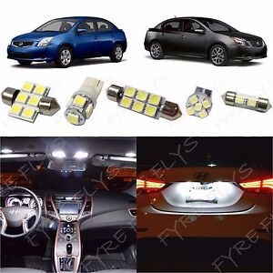 6x White Led Interior Lights Package Kit For 2007 2012 Nissan Sentra Ns1w