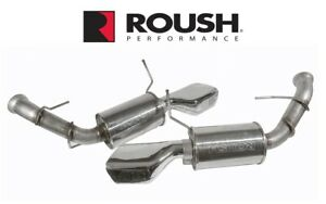 13 14 Mustang Gt 5 0 Roush Rs3 High Performance Exhaust Kit W Dual Chamber Tips