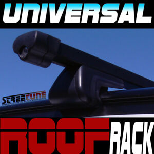 Universal Blk 49 Square Roof Rack Cross Bars Lock Key Car Wagon Suv Carrier S5