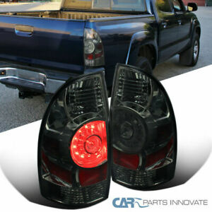 For 05 15 Toyota Tacoma X runner Smoke Lens Led Tail Brake Lights Parking Lamps