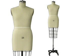Professional Pro Working Dress Form Mannequin Male Half Size 38 W hip