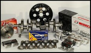 Bbc Chevy 496 Assembly Scat Wiseco 20cc Dome 4 310 Pistons 060 Over 1pc Rms